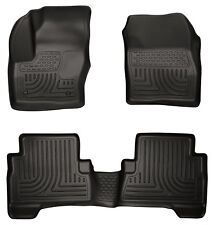 Black Husky Liners WeatherBeater 3pc Floor Mats - 2013-2017 Ford Escape & C-Max
