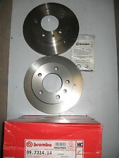 PAIR OF BREMBO FRONT DISCS  09.7314.14 TO FIT VW LT ALL MODELS 1996-2001