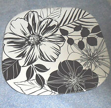 """Essential Home Soft Square Floral Melamine 10.5"""" Square Dinner Plate (One Plate)"""
