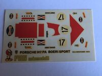 PORSCHE 971 PA-BOERI SILVERSTONE 1972 DECAL decals SCALA 1/43