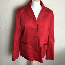 Savannah Red Jacket Size 18 Buttons Coat Pockets Spring Workwear UK Womens