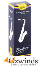 Vandoren Traditional Tenor Saxophone Reeds, Strength 3 1/2 (Box of 5)