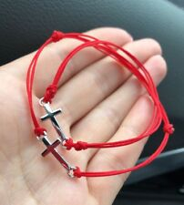 Mom And Child 👶 🧒Cross Charm  bracelets braided lucky red string handmade