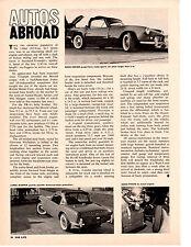 1963 TRIUMPH SPITFIRE  ~  ORIGINAL NEW CAR PREVIEW ARTICLE / AD