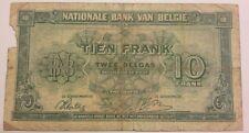 10 Francs-2 Belgas, 1943, 1943-02-01, KM:122 Belgïe Belgique 10 Frank 1943