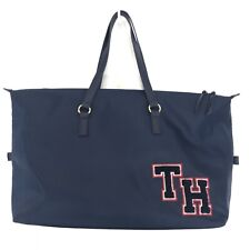 Tommy Hilfiger Weekender Bag NWT Zip Top Large Tote TH Sewn Letter Logo NEW