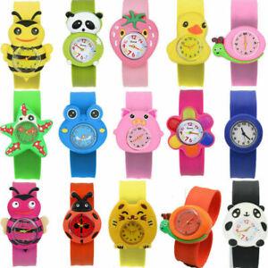 Slap On Cartoon Girls Snap Watch Silicone Wrist Watch Children Kids Fashion Boys