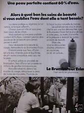 PUBLICITÉ 1973 BRUMISATEUR EVIAN UNE PEAU PARFAITE CONTIENT 60 % D'EAU
