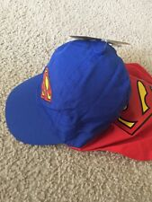 NEW DC Comics Little Boys' Toddler 12 - 24 months Superman Cape Hat with Logo