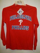 "9601-15 Majestic PHILADELPHIA PHILLIES ""Team Logo"" Baseball Jersey Shirt New"