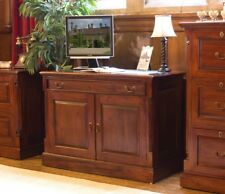 Baumhaus La Roque Mahogany Hidden Home Office with 2 Doors and Keyboard Drawer