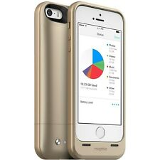 NEW Mophie 32GB Gold Space Pack Case Apple iPhone 5 / 5s 1700mAh Battery Charger