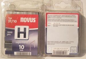 Tacker  Klammern  Novus  37 10mm  2x 1000 Stück   042-0371     R30,R33,ESN113