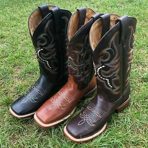 Men's Rodeo Western Style Mexican Hand-made Cowboy Boots