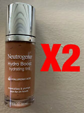 NEUTROGENA HYDRO BOOST HYDRATING TINT 135 CHESTNUT 1 OZ ~ 2 PIECE LOT ~ NWOB