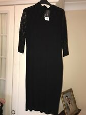 Black Cotton And Lace Dress, Dorothy Perkins, Size 14