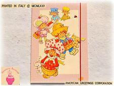 STRAWBERRY SHORTCAKE Fragolina Dolcecuore Vintage MAXI cartellina elastico 1980