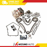 Timing Chain Kit Water Oil Pump Timing Cover Gasket Fit 00-04 Dodge Chrysler 2.7