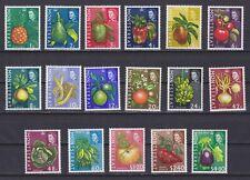 MONTSERRAT 1965, Sc# 159-175, CV $27, 'Fruits & vegetables', MLH