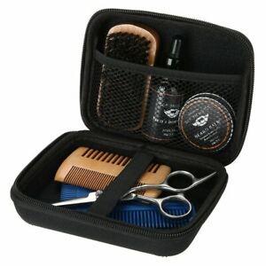 Men's Gent's Beard Grooming Kit Gift Set Shampoo Oil Balm Wooden Brush Comb Hair