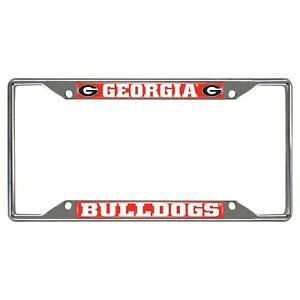 Fanmats NCAA Georgia Bulldogs Chrome Metal License Plate Frame Delivery 2-4 Days