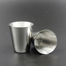 2p. Acier Inoxydable Mini Tasse Mug Buvable Bière café Verre Camping Voyage