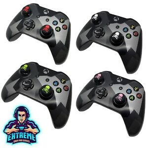 2 x Skull FPS Thumb Stick Cover Grip Caps For Microsoft Xbox 360 Controller EGP©