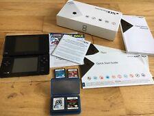 Nintendo DSi Black Handheld System Bundle Lot Metroid Prime Hunters Gravity Rare
