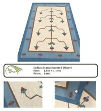 Indian Hand Knotted Dhurri Rug