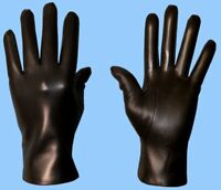 NEW MENS size 11 or 3XL CASHMERE LINED BLACK LAMBSKIN FINE LEATHER GLOVES