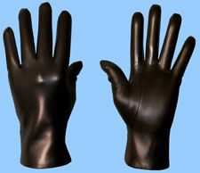 NEW MENS size 7 or XXS CASHMERE LINED BLACK LAMBSKIN FINE LEATHER GLOVES