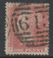 Great Britain/GB - 1858, 1d Penny Red - Letters FI - Plate 168 - Used- SG 43 (b)