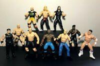 1990s WWF WWE Jakks Pacific Wrestling Action Figure Lot (10) 1996 1997 1998