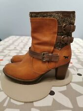 MUSTANG BROWN ANKLE BOOTS 6 39 WORN ONCE