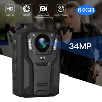 BOBLOV 1296P Body Worn Camera 32GB IR Night Vision Wearable for Officer Security