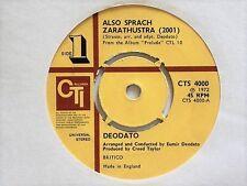 "DEODATO - ALSO SPRACH ZARATHUSTRA (2001) - 7"" VINYL - CTI LABEL"
