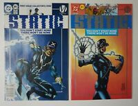 STATIC #1 Platinum & Newsstand Editions 1993 DC milestone 1st Appearance Shock