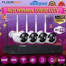 Floureon 4CH Wireless 1080P NVR CCTV Wifi 960P IP Camera Outdoor Security System
