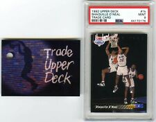 SHAQUILLE O'NEAL~1992 UPPER DECK#1B PSA-9 MINT w/TRADE REDEMPTION CARD ROOKIE RC