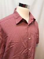 Urban UP Pipeline Men's Shirt Short Sleeve X Large Button up Red Plaid