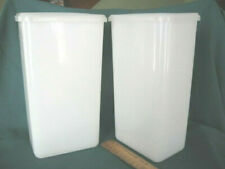 Lot/2 Plastic Food Storage Containers 2 quart+ capacity pasta beans rice crafts