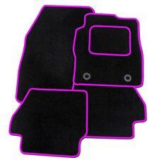 TOYOTA YARIS 2006-2011 TAILORED BLACK CAR MATS WITH PINK TRIM