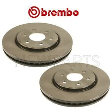 NEW Pair Set of 2 Front 296mm Coated Vented Disc Brake Rotors Brembo for Nissan