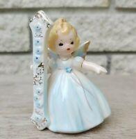 Vintage Josef Originals 1st Birthday Angel One Black Eyes Girl Blue Dress Blonde