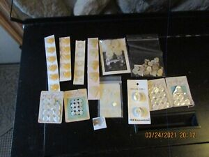 Beautiful Antique lot  Mother Of Pearl Buttons & 11 rose bottton