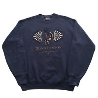 Vintage 90s Grand Canyon Sweatshirt Mens Medium Pullover Hip Hop Mountains USA