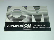 notice OLYMPUS OM FLASH QUICK AUTO 310 en anglais photo photographie