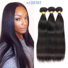 Indian 100% Virgin Human Hair Extensions Straight 3bundles/150g Brazilian Weave