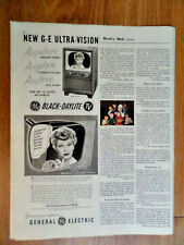 1952 General Electric GE TV Television Ad I Love Lucy  Lucille Ball
