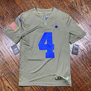Nike Dallas Cowboys Dak Prescott #4 Salute To Service Jersey Mens S Limited NWT